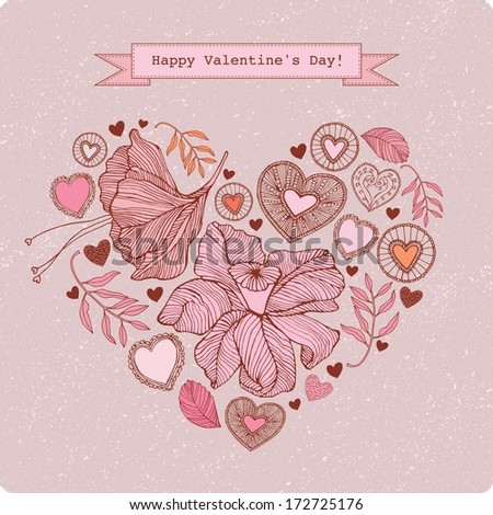 Happy valentines day and weeding cards - stock vector