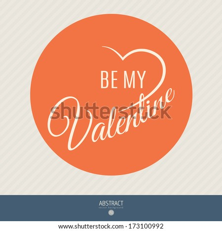 Happy valentines day and weeding vector cards. best template for flat design - stock vector