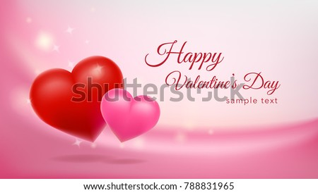 Happy Valentines Day Background Design Wallpaper Stock Vector ...
