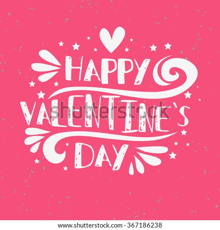 Happy Valentines Day Card Inspirational Romantic Stock Vector ...