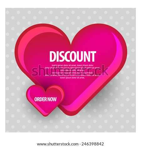 Happy Valentines Day Card vector - stock vector