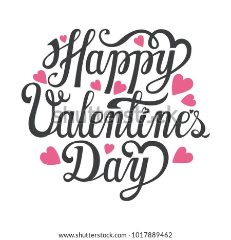 Happy Valentines Day Card Vector Background Vector Love Stock Vector