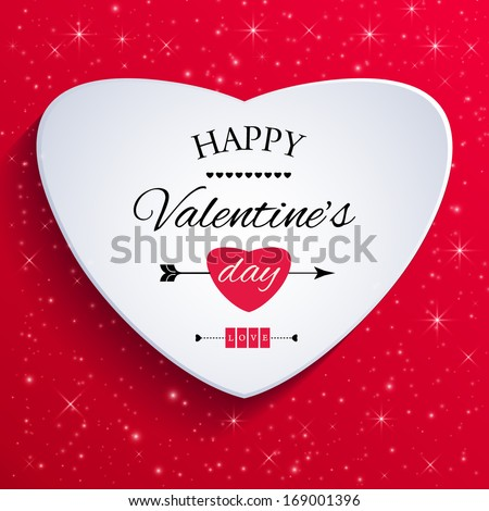 Happy valentines day card. Vector illustration.  - stock vector