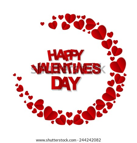 Happy Valentines Day Card. Vector Illustration  - stock vector