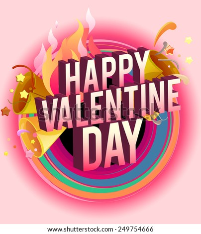 Happy Valentines Day card vector illustration.brochure, banner, card - stock vector