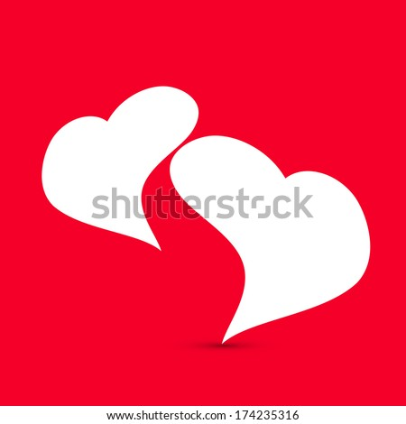 Happy Valentines Day celebration greeting card with stylish heart shape design on red background, can be use as flyer, banner or poster.