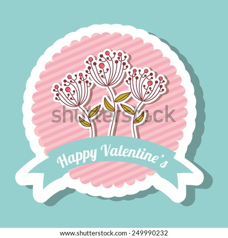happy valentines day design, vector illustration eps10 graphic