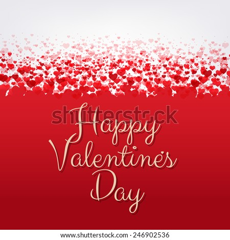 Happy Valentines Day Frame, Vector Illustration - stock vector