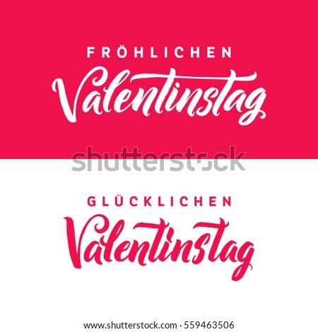 Typographic Design Happy Valentines Day Hand Vector – German Valentines Day Cards