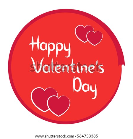 Happy Valentines Day Greeting Cards. Vector Icon