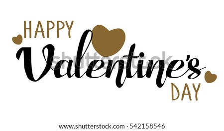 happy valentines day hand drawing lettering card design - Happy Valentines Day Text