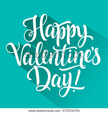 Happy Valentines Day Inscription 2 - stock vector