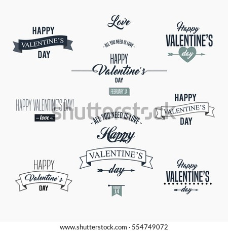 Happy Valentines Day Lettering Card