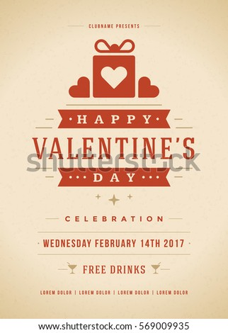 Happy valentines day party invitation poster stock vector 569009935 happy valentines day party invitation poster stock vector 569009935 shutterstock stopboris Images
