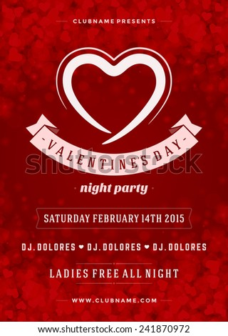 Valentines Poster Design Royaltyfree Stock Photo Valentines Night