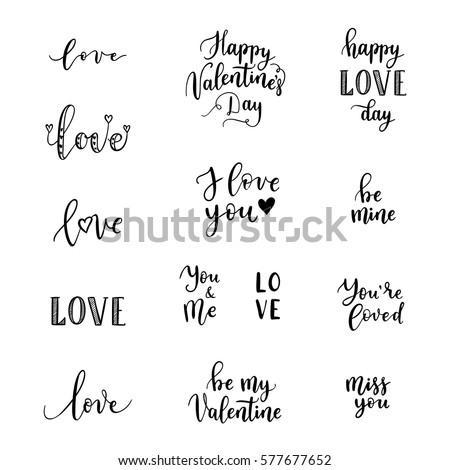 Happy Valentines Day Text Banco de im genes Fotos y vectores – Phrases for Valentines Cards