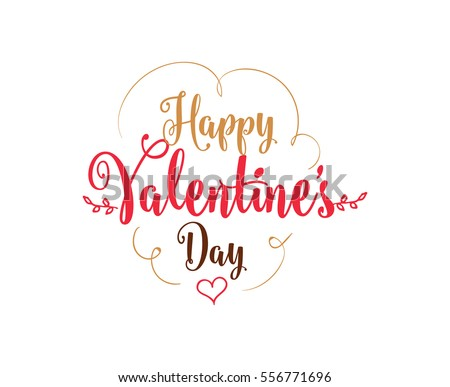 happy valentines day typography vector text design usable for banners greeting cards - Happy Valentines Day Text