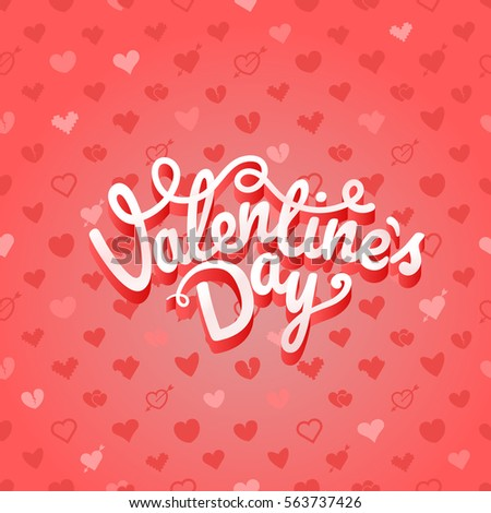 Happy Valentines Day Vector Greeting Card Stock Vector 371667082 ...