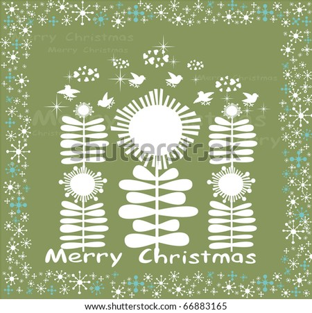 Happy winter card in cartoon style. - stock vector