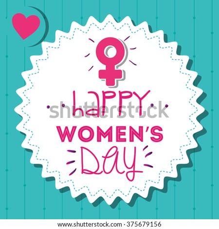 happy womens day design  - stock vector