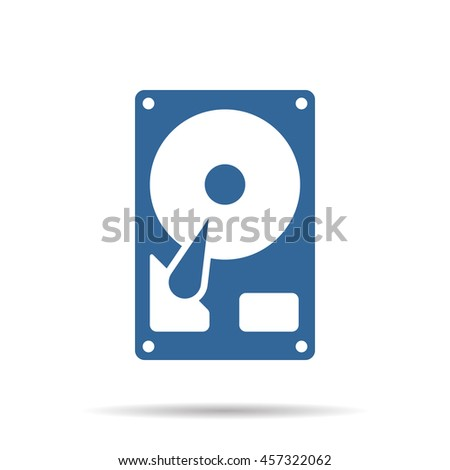 hard drive disk icon - stock vector