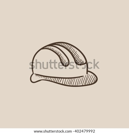 Hard hat sketch icon. - stock vector