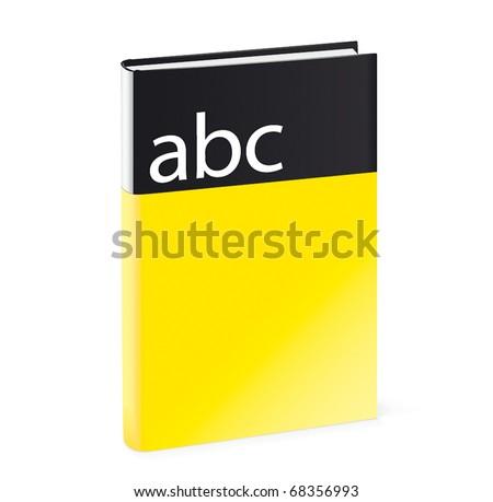 Hardcover book - stock vector
