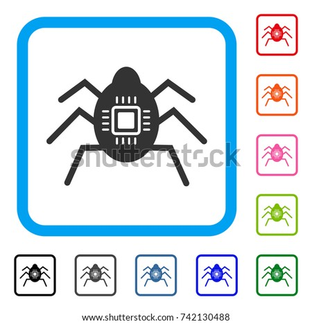 Hardware Bug Icon Flat Grey Pictogram Vector de stock742130488 ...