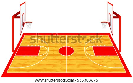 hardwood textured basketball court color vector stock vector hd rh shutterstock com basketball court background clipart basketball half court clipart