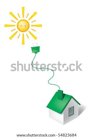 Harmless energy - stock vector