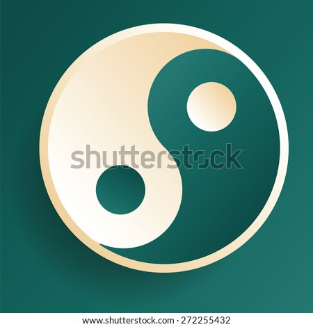 Harmony balance symbol ying-yang vector illustration. - stock vector