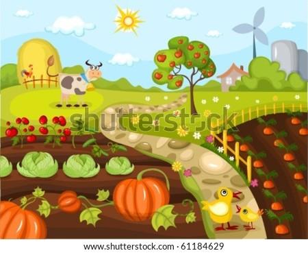 harvest card - stock vector