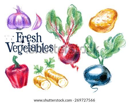 harvest vector logo design template.  fresh food or ripe vegetables icon. - stock vector