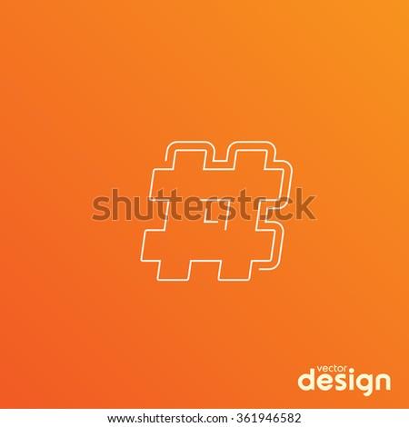 Hashtag - stock vector