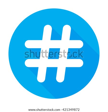 Hashtags Icon Flat, Hashtags Icon Graphic, Hashtags Icon Picture, Hashtags Icon EPS, Hashtags Icon AI, Hashtags Icon JPEG, Hashtags Icon Art, Hashtags Icon, Hashtags Icon Vector - stock vector