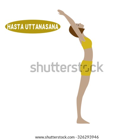 dandasana vector yoga pose illustration yoga stock vector