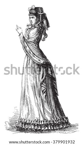 Hat cranked top, vintage engraved illustration. Magasin Pittoresque 1880. - stock vector
