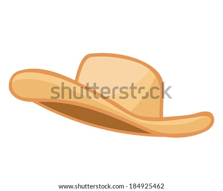 hat isolated illustration on white background - stock vector