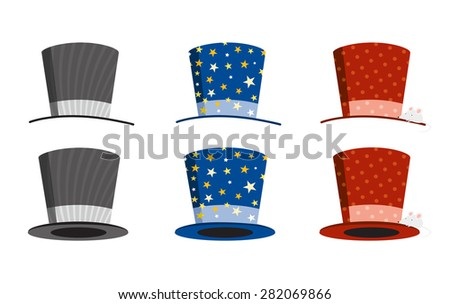 hat magician - stock vector