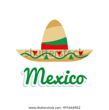 Hat of Mexican culture design