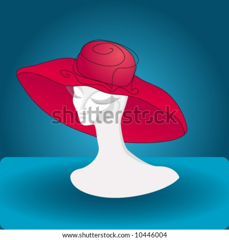 Hat series. #1 Red Hat - stock vector
