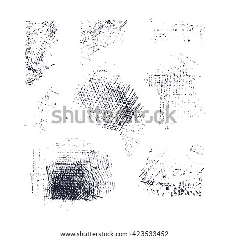 hatching elements set. vector isolated editable compound paths  hand drawn. vector illustration