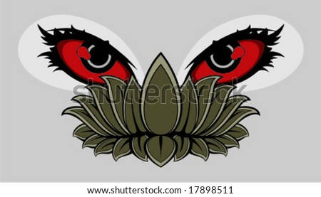 hate eyes - stock vector