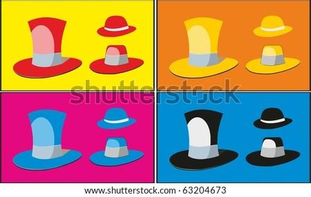 Hats. Vector - stock vector