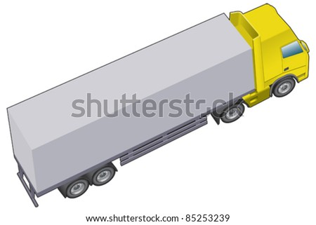 Haulage, lorry or truck longer version - stock vector