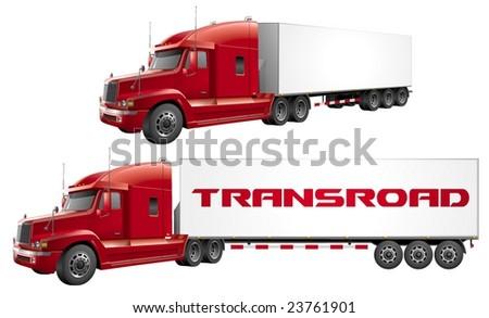 Haulage truck vector - stock vector