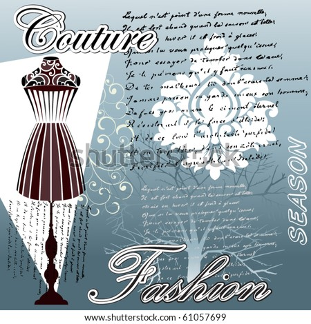 Haute Couture Fashion bodyform - stock vector