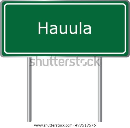 Hauula Sign