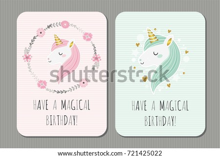 Have Magical Birthday Cute Vector Birthday Stock Photo Photo