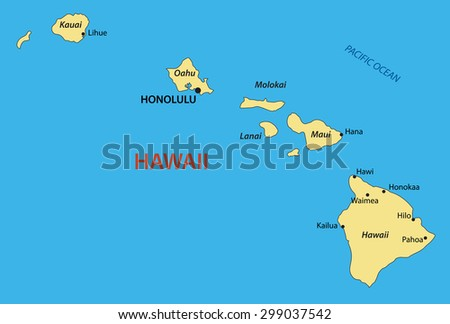 Hawaii - vector map